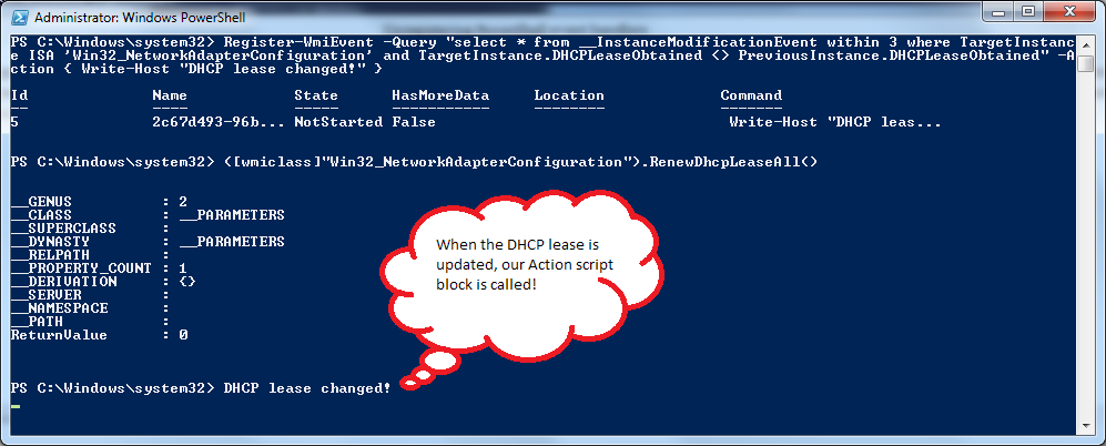 PowerShell: Getting started with WMI Events « Trevor