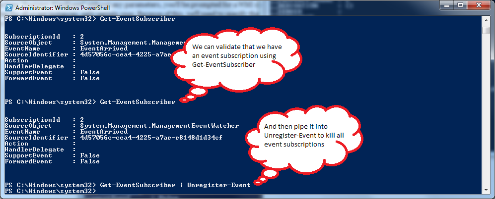 PowerShell - Unregister-Event