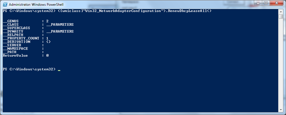 PowerShell - DHCP Renewal