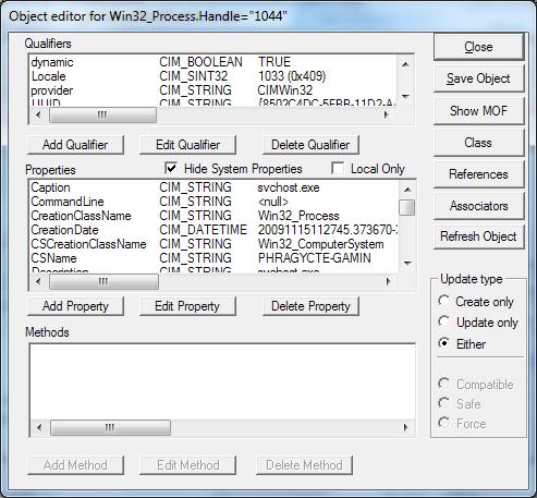 Object Editor for TargetInstance (wbemtest)