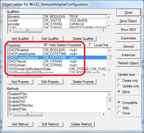 Win32_NetworkAdapterConfiguration WMI Class (wbemtest)