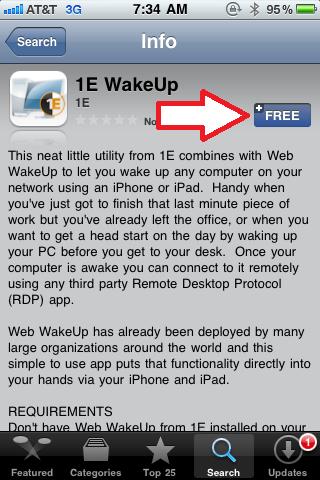 Install 1E WakeUp App