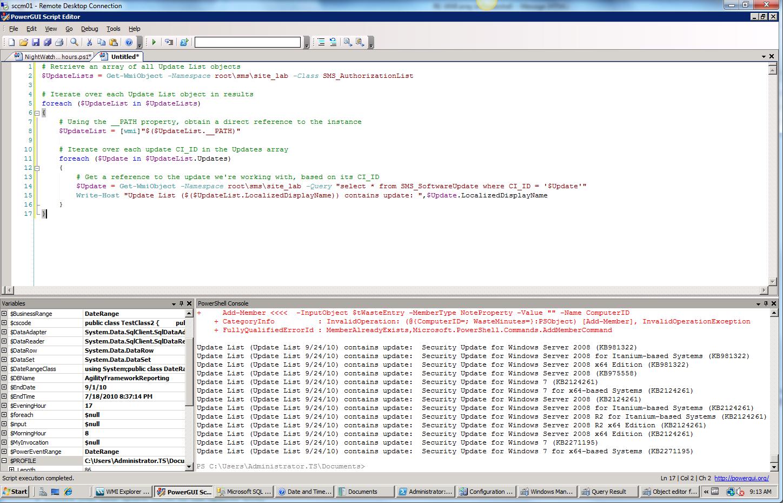 PowerShell: ConfigMgr WMI Provider (feat  Lazy Properties) - Trevor