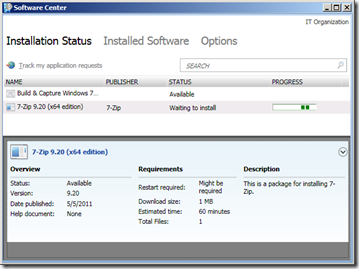 SCCM 2012 - Software Center - Installation Status (2)